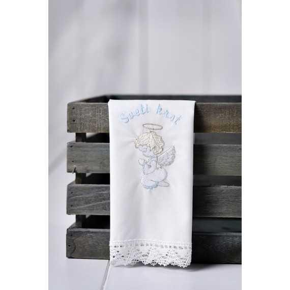Krstni prtiček Angel kleči in moli