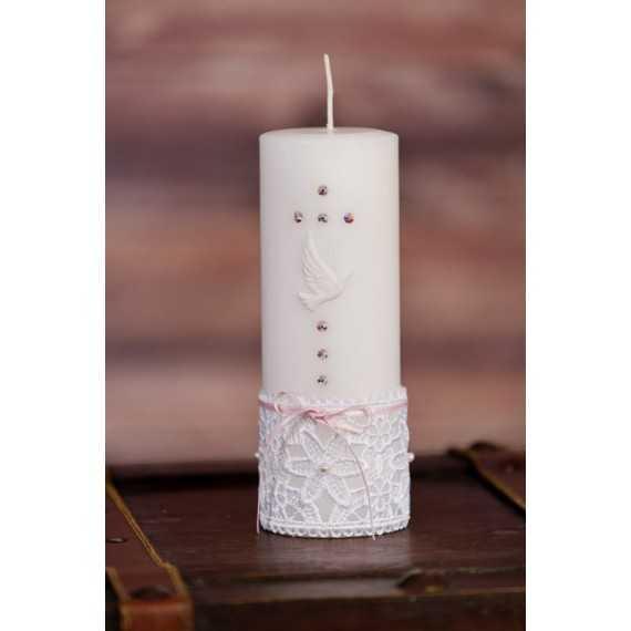 Okrogla sveča za sv. birmo