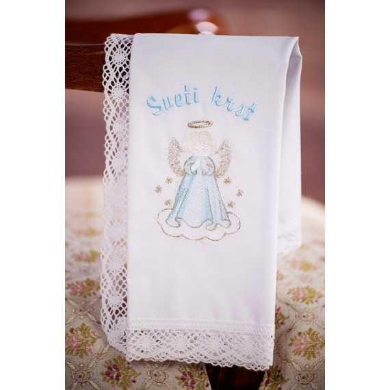 Krstni prtiček Angel moli