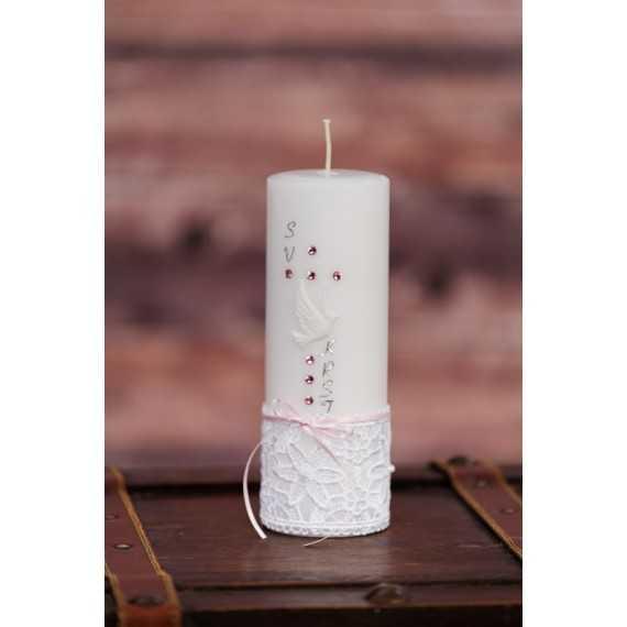 Krstna okrogla mala sveča