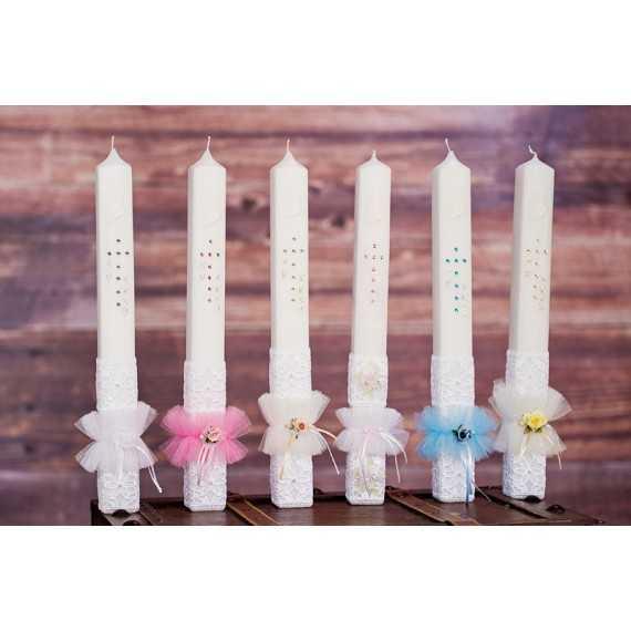 Oglata krstna sveča Čipka